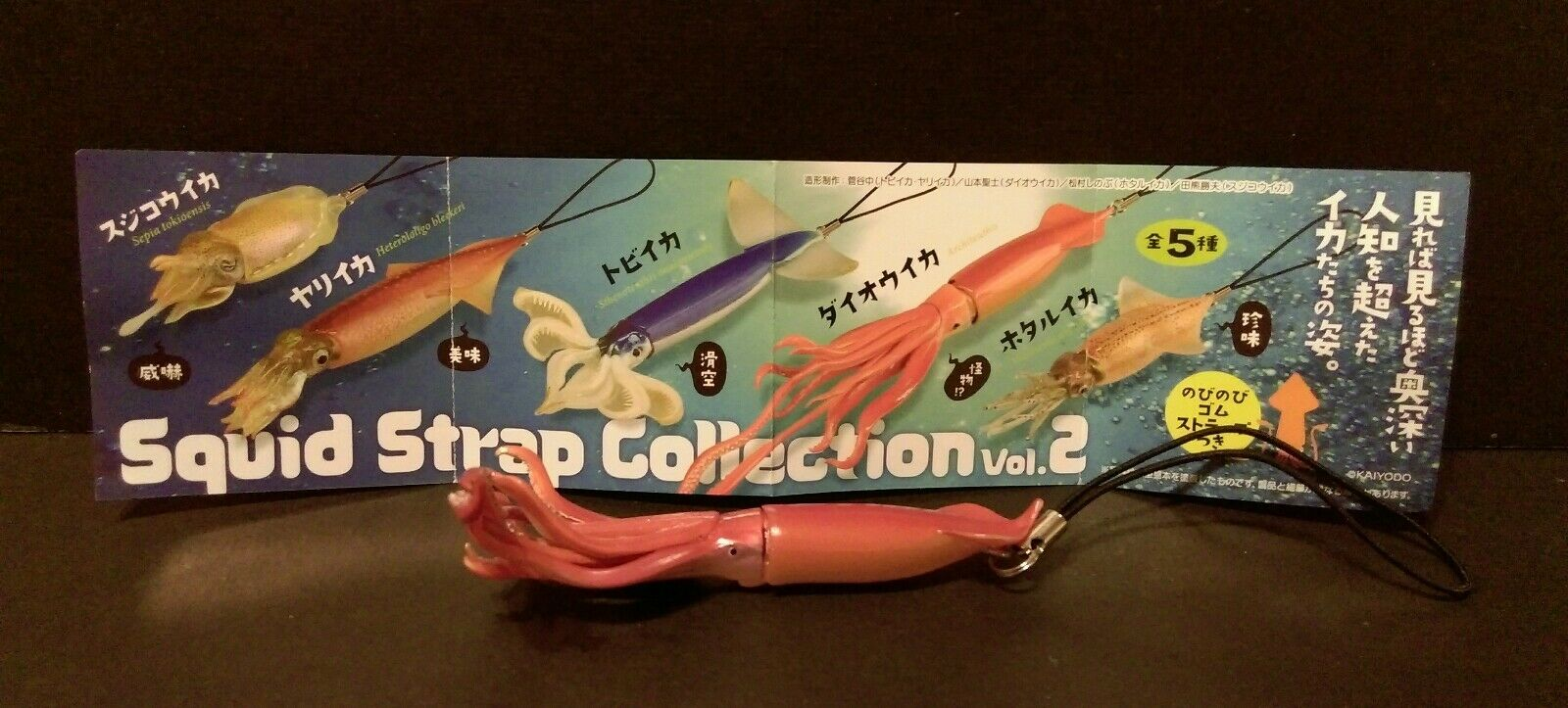 Kaiyodo Capsule Q Museum Ika Colle Ika strap collection