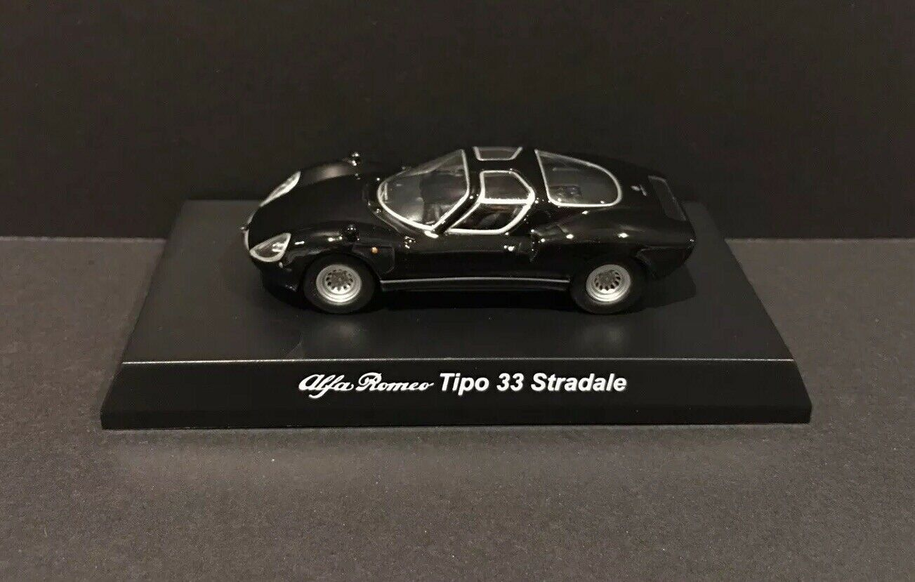 Kyosho 1 64 Alfa Romeo Diecast Car Model Tipo 33 Stradale Black King Crab Collectibles